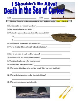 I Shouldn't Be Alive : Death in the Sea of Cortez (video worksheet)