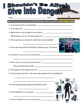 I Shouldn't Be Alive : Dive into Danger (video worksheet)