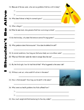 I Shouldn't Be Alive: Dive of Terror (video worksheet)