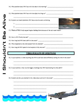 I Shouldn't Be Alive : Fear in Freefall (video worksheet)
