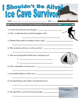 I Shouldn't Be Alive : Ice Cave Survivor (video worksheet)