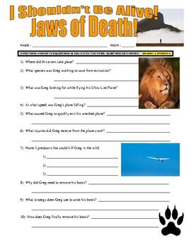 I Shouldn't Be Alive : Jaws of Death (video worksheet)
