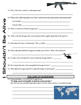 I Shouldn't Be Alive : Kidnap in the Killing Fields, Cambodia  (video worksheet)