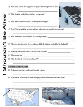 I Shouldn't Be Alive : Killer Crevasse (video worksheet)