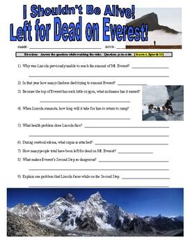 I Shouldn't Be Alive : Left for Dead on Everest (video worksheet)