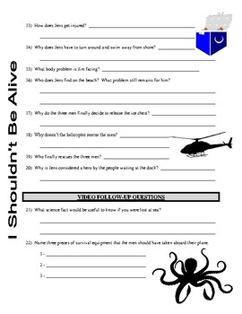 I Shouldn't Be Alive : Lost at Sea (video worksheet)