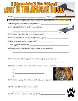 I Shouldn't Be Alive : Lost in the African Bush (video worksheet)