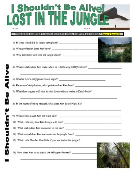 I Shouldn't Be Alive : Lost in the Jungle (video worksheet)