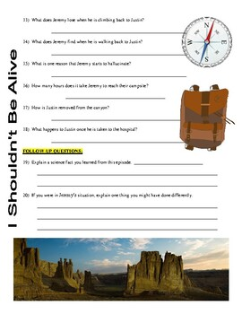 I Shouldn't Be Alive : Nightmare Canyon (video worksheet)