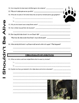 I Shouldn't Be Alive : Nightmare on the Mountain (video worksheet)