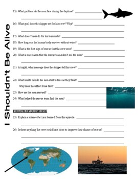 I Shouldn't Be Alive : Ocean Disaster (video worksheet)