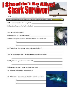 I Shouldn't Be Alive : Shark Survivor (video worksheet)