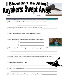 I Shouldn't Be Alive : Swept Away (video worksheet)
