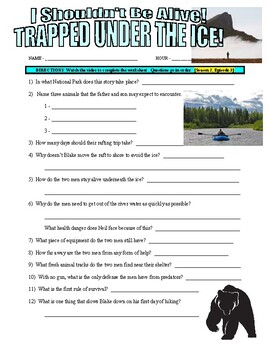 I Shouldn't Be Alive : Trapped Under the Ice (video worksheet)