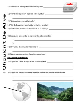 I Shouldn't Be Alive : Vacation Nightmare (video worksheet)
