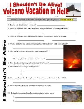 I Shouldn't Be Alive : Volcano Vacation (video worksheet)