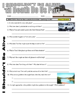 I Shouldn't Be Alive : 'til Death Do Us Part (video worksheet)