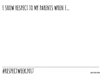 Respect Week Freebie