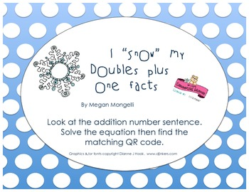 """I """"Snow"""" My Doubles Plus One Facts"""