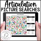 Articulation Picture Searches Print or No Print Teletherapy Distance Learning