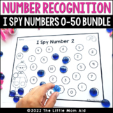 I Spy 0-30 Number Recognition Worksheets BUNDLE