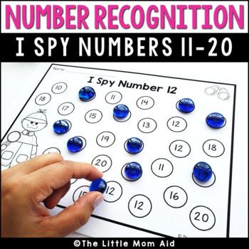 I Spy 11 to 20 Number Recognition Practice Worksheets