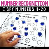 I Spy 11 to 20 Number Recognition Worksheets