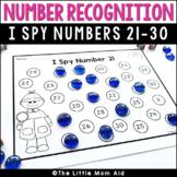 I Spy 21 to 30 Number Recognition Worksheets