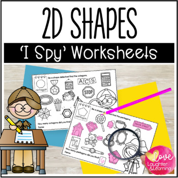 2D Shape Worksheets {I Spy!}