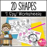 2D Shape Worksheets {I Spy!}