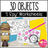 3D Objects Worksheets {I Spy!}