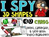 I Spy 3D Shapes (1st Grade)- September Edition (Apples, Johnny Appleseed)
