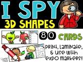 I Spy 3D Shapes (Kindergarten)- September Edition (Apples, Johnny Appleseed)