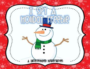 I Spy A Holiday Freebie- Aligned Dolch Word Activity.