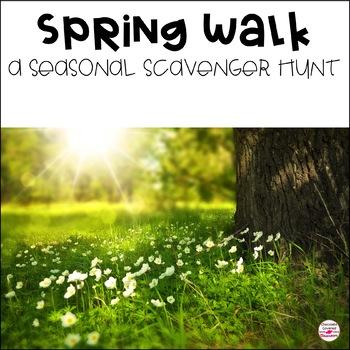 I Spy! A Spring Walk Nature Scavenger Hunt