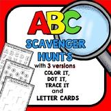 I Spy ABC Scavenger Hunt Alphabet Activities for Preschool and Kindergarten