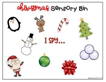I Spy Activity for Christmas Sensory Bins