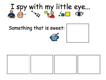I Spy Attributes- Adapted Book for Special Education / Autism