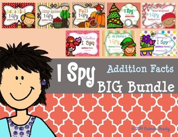 I Spy Addition Facts ~BIG Bundle!