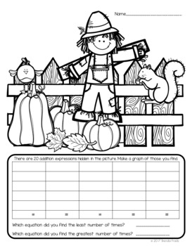 I Spy Addition Facts ~Fall Edition~