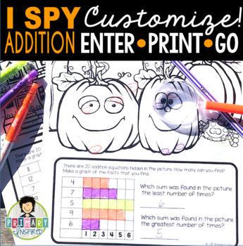 I Spy Addition Facts ~Halloween Edition~