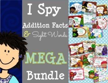 I Spy Addition Facts & Sight Words ~MEGA Bundle!~