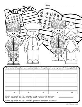 I Spy Sight Words/Math Facts *Veterans Day* CUSTOMIZABLE!