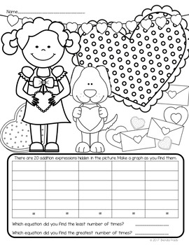 I Spy Addition Facts (up to 20) ~Valentine Edition~