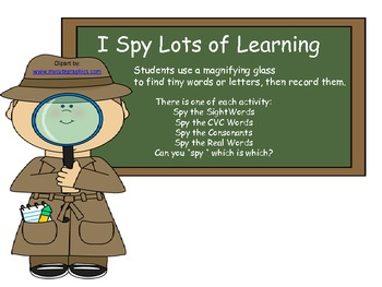 I Spy Alot of Learning