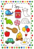I Spy Alphabet Game Cards A - L