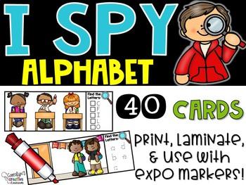 I Spy Alphabet Literacy Center - Back to School Edition
