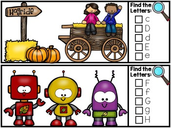 I Spy Alphabet Literacy Center - Fall & Autumn Edition