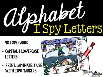 I Spy Alphabet Literacy Center - Winter Edition