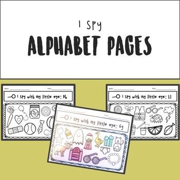 I Spy Alphabet Pages A-M